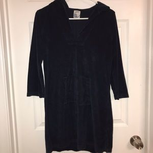 J.Crew terry cloth beach cover up with hood/pocket